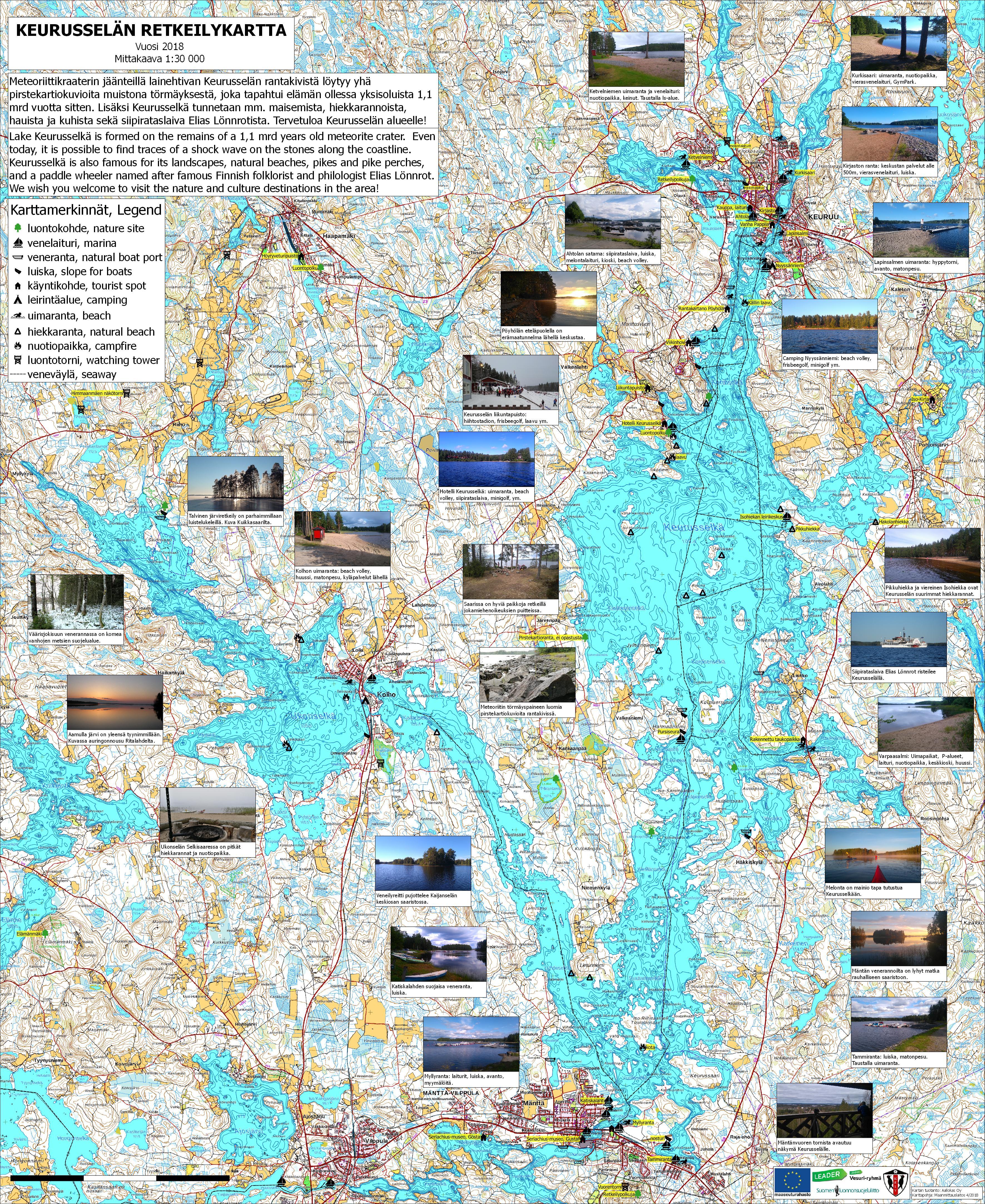 Luonnon Vesilla Keurusselalla Lake Keurusselka Keuruun Vapaa Aika